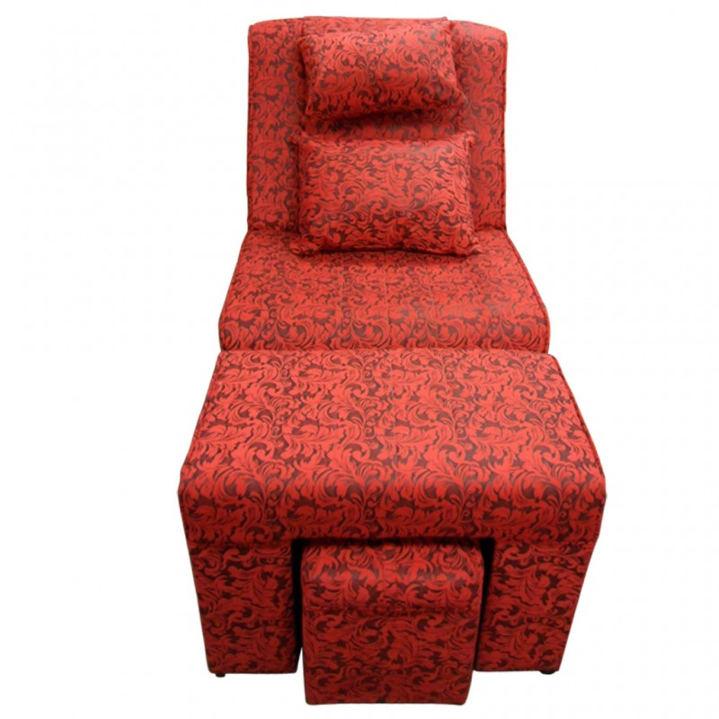 #A02H Red Floral Fabric Massage Sofa