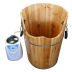 B226 Wooden Bucket with Steamer