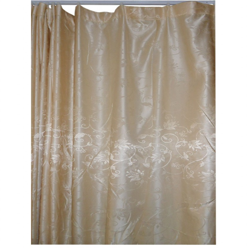 30 107 Light Gold Floral Fabric Curtain
